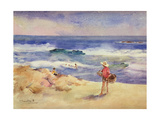 Boy on the Sand Lámina giclée por Joaquín Sorolla y Bastida