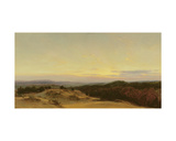 Sunset over a Landscape Giclee Print by Henry William Banks Davis