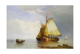 Shipping in a Calm, 1869 Giclee Print by James Webb