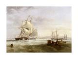 Shipping Off Hartlepool Giclee Print by John Wilson Carmichael