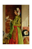 Caged Doves Giclee Print by John Frederick Lewis