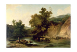 The River Wye at Tintern Abbey, 1805 Giclee Print by Philip James De Loutherbourg