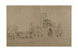 Kirkstall Abbey, 1801 Giclee Print by Joseph Farington