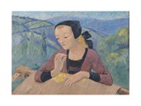 The Embroideress Giclee Print by Paul Serusier
