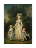 Queen Marie Antoinette (1755-93) with Her Children in the Park of Trianon, 1785 Giclee Print by Adolf Ulrich Wertmuller