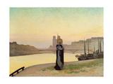 St. Genevieve, 1885 Giclee Print by Edmond-francois Aman-jean