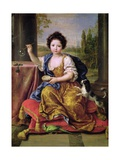 Marie-Anne De Bourbon (1666-1739) Mademoiselle De Blois, Blowing Soap Bubbles Giclee Print by Pierre Mignard
