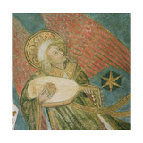 Angel Musician Playing a Lute, Detail from the Vault of the Crypt Giclee Print