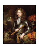 Portrait of a Commander in Armour Giclee Print by Constantin Netscher