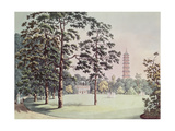 A View in Kew Gardens of the Alhambra and Pagoda, Engraved by Heinrich Joseph Schutz (1760-1822),… Giclee Print by Franz Joseph Manskirch