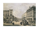 The Quadrant, Regent Street, Pub. 1852 Giclee Print by Edmund Walker