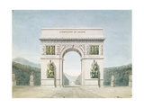Design for the Arc De Triomphe with a Wooded Background Giclee Print by Jean Francois Therese Chalgrin