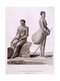 Northern Mariana Islands: Two Men Suffering from Tuberculosis, from 'Voyage Autour Du Monde Sur… Giclee Print by Jacques Etienne Victor Arago