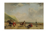 Fisherfolk on the Normandy Coast, 1827 Giclee Print by Richard Parkes Bonington