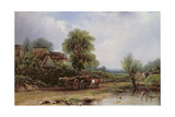 The Timber Wagon Giclee Print by Frederick Waters Watts