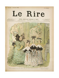 At the Salon, Front Cover of 'Le Rire', 10th August 1895 Giclee Print by Charles Leandre