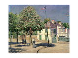 Walk at Argenteuil, 1883 Giclee Print by Gustave Caillebotte