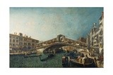 The Rialto Bridge, Venice, C.1740 Giclee Print by Michele Marieschi