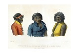 Port Jackson, New Holland: Natives from the River Nepean Region, from 'Voyage Autour Du Monde Sur… Giclee Print by Alphonse Pellion