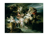 The Defeat of the Teutons and the Cimbri by Gaius Marius (C.157-86 BC) Giclee Print by Francois Joseph Heim