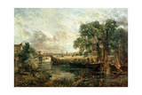 Sketch for 'View on the Stour, Near Dedham' 1821-22 Giclee Print by John Constable