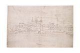 The Tower of London, C.1544 Giclee Print by Anthonis van den Wyngaerde