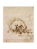 A Unicorn Dipping its Horn into a Pool of Water, C.1481 Giclee Print by  Leonardo da Vinci