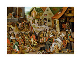 The Seven Acts of Mercy Giclee Print by Pieter Breugel the Younger