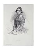 Portrait of Marie Pleyel (1811-75) Giclee Print by Marie Alexandre Alophe