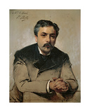 Portrait of Gabriel Faure (1845-1924) Giclee Print by Paul Mathey