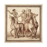 Ms Gen 1496 Plate Cxxii Gladiators and Chariot, 1674 Giclee Print by Pietro Santi Bartoli
