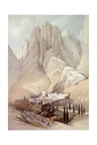 Convent of St.Catherine with Mount Horeb, February 19th 1839, Plate 118 from Volume III of 'The… Giclee Print by David Roberts