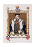 Portrait of William Herbert (C.1506-70) 1st Earl of Pembroke from 'Memoirs of the Court of Queen… Giclee Print by Sarah Countess Of Essex