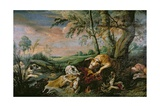A Boar Hunt Giclee Print by Frans Snyders Or Snijders