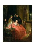 Apres Le Bal, 1735 Giclee Print by Jean Francois de Troy