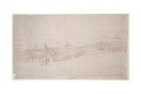 Westminster Palace, from 'The Panorama of London', C.1544 Giclee Print by Anthonis van den Wyngaerde