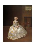 Portrait of Miss Elizabeth Hemyng, C.1738-42 Giclee Print by Arthur Devis