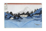 Katsushika Hokusai - Mount Fuji Reflected in Lake Misaica, from the Series '36 Views of Mount Fuji' ('Fugaku… Digitálně vytištěná reprodukce