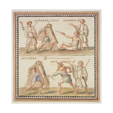 Ms Gen 1496 Plate Cxxiv Gladiators, 1674 Giclee Print by Pietro Santi Bartoli
