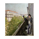 A Balcony, Boulevard Haussmann, 1880 Giclee Print by Gustave Caillebotte