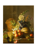 Still Life with Fruit on a Ledge Giclee Print by Jean-Louis Prevost