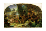 The Fairy Raid: Carrying Off a Changeling - Midsummer Eve, 1867 Giclee Print by Sir Joseph Noel Paton