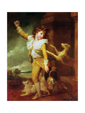 Boy with Dogs Giclee Print by Richard Cosway