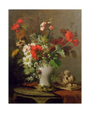 Summer Flowers in a Vase Giclee Print by Eugene Petit