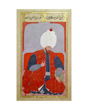 Ms Hazine 1563 Fol.47B Suleyman I (1495-1566) as a Young Man, from 'semailname', 1579 Giclee Print by  Nakkas Osman