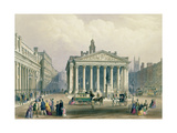 The Royal Exchange and the Bank of England, Lithograph by T. Picken, Printed by Day and Son.,… Giclee Print by George Sidney Shepherd