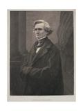 Hector Berlioz (1803-69) Engraved by Metzmacher Giclée-trykk av  Nadar