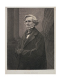 Hector Berlioz (1803-69) Engraved by Metzmacher Giclee Print by  Nadar
