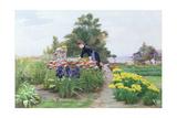The Flower Garden, 1888 Giclee Print by Cesar Pattein