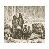 Native American Family Group West of the Rocky Mountains, C.1880 Giclee Print by Reverend Samuel Manning